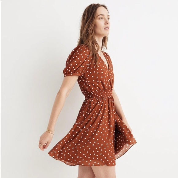 Madewell Dresses & Skirts - Madewell | Smocked Inkspot Mini Dress✨